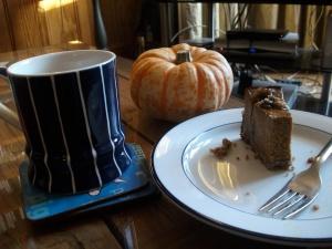 pumpkin pie and coffee
